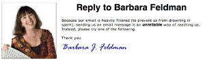 Reply to Barbara