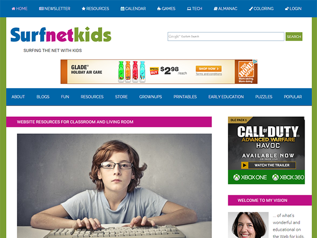 Surfnetkids Ads Above the Fold